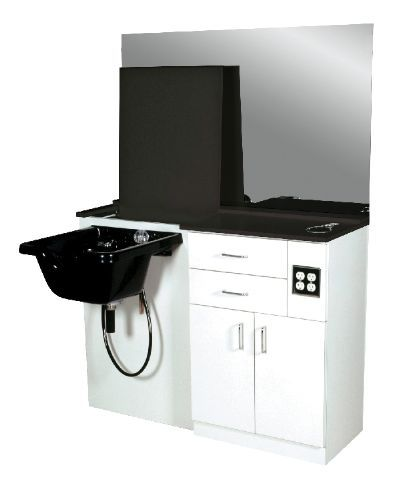 Salon station with sink. Flip up counter.. need one!