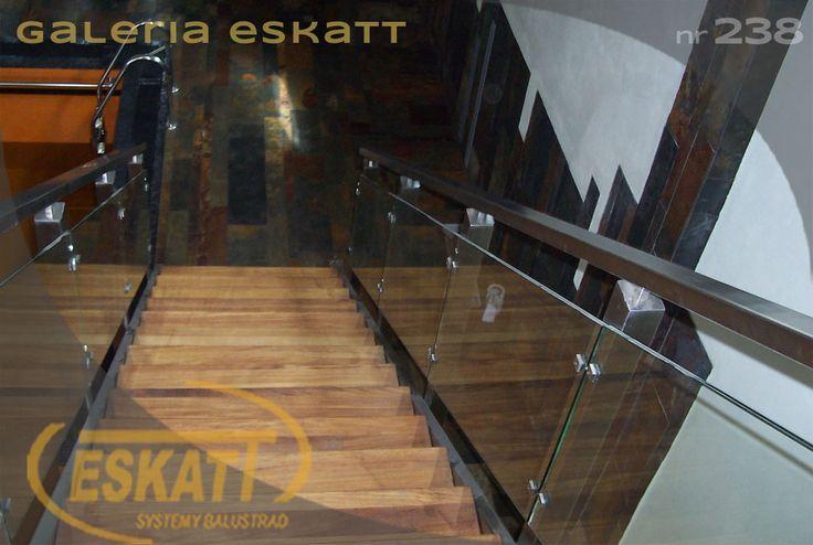 Stainless steel balustrade; with glass panel filling #balustrade #eskatt #construction #stairs