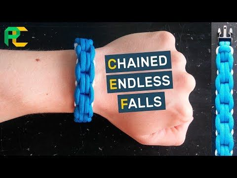Chained Endless Falls Paracord Bracelet - YouTube