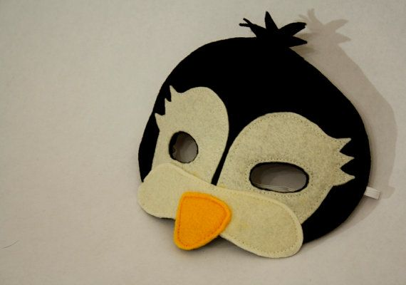 Maximus the Penguin Mask for Pretend Play by HuntingFaeries, $18.00