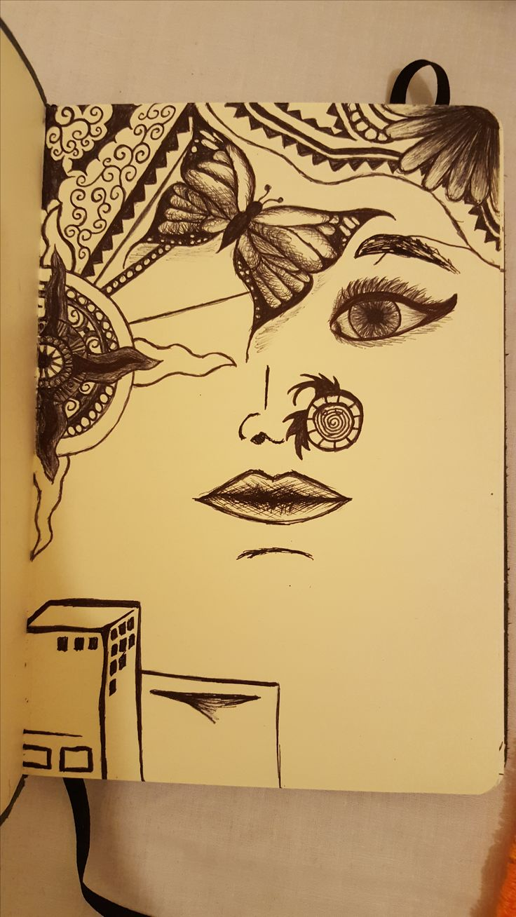 Ill call this; Classroom Doodles. Pen on Paper.