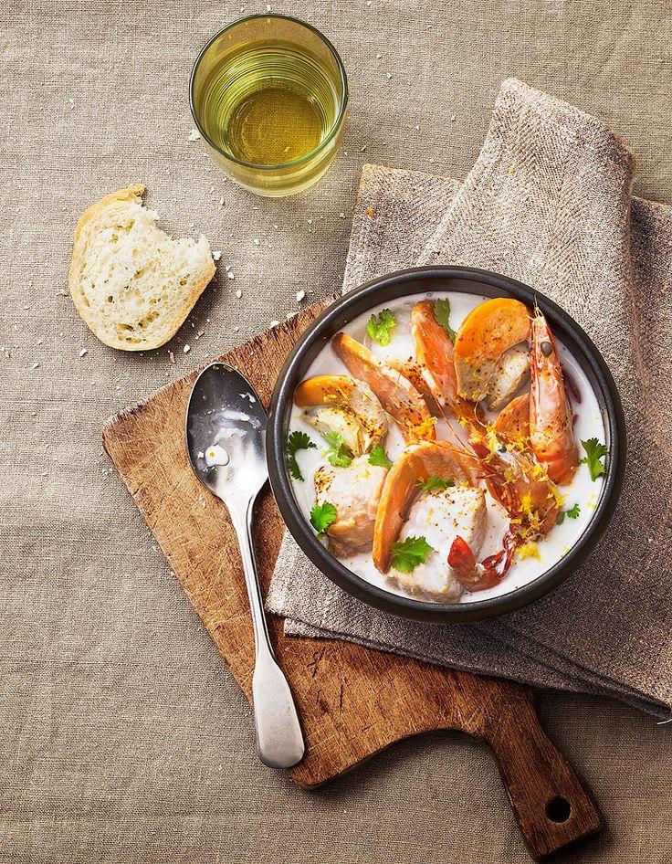 Soupe de poisson exotique pour 6 personnes - Recettes Elle à Table