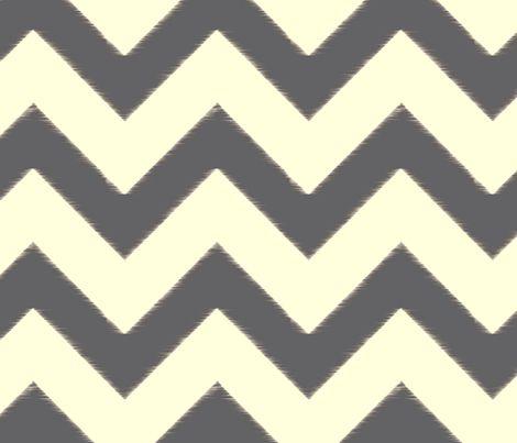 grey ikat chevron fabric by fable_design on Spoonflower - custom fabric
