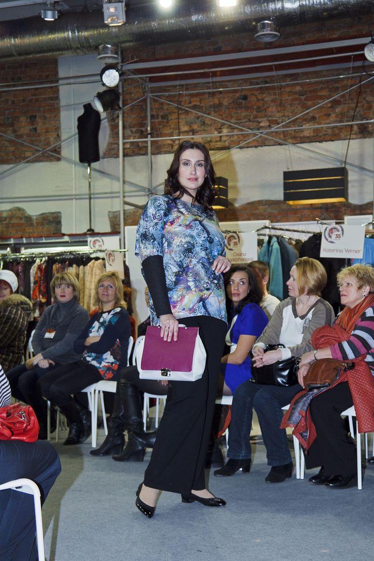 Plussize model Mila Repina for St.Petersburg fashion brand NEZNAKOMKA Show