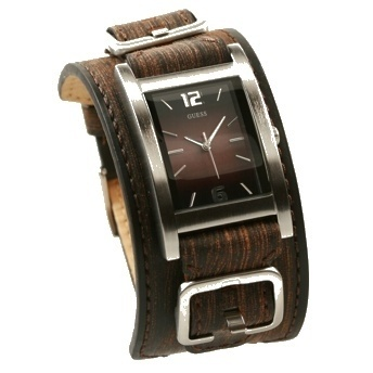 GUESS Men's Watch Brown Double Leather Cuff.   USE COUPON CODE: PINMIAMI
