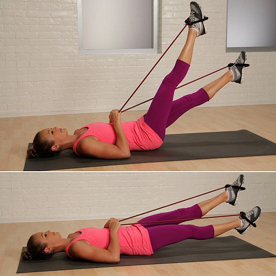 Resistance Band Flutter Kicks is one of the best exercises for toning your lower abs.