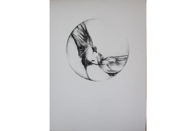 Contemplating Swallows II -  Art Print by Christelle P Art
