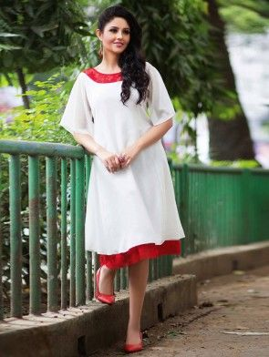 White Georgette Tunic