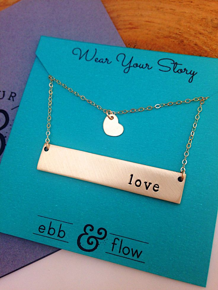 A personal favorite from my Etsy shop https://www.etsy.com/ca/listing/268849512/bar-necklace-horizontal-bar-necklace