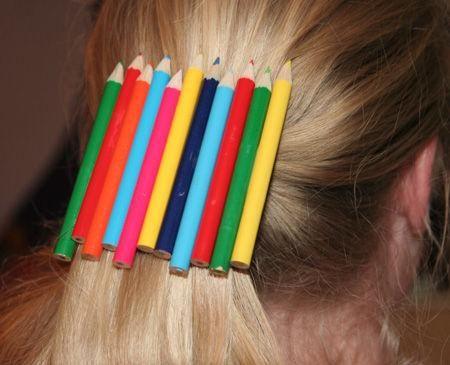 Diy back to school : DIY pencil hairclip