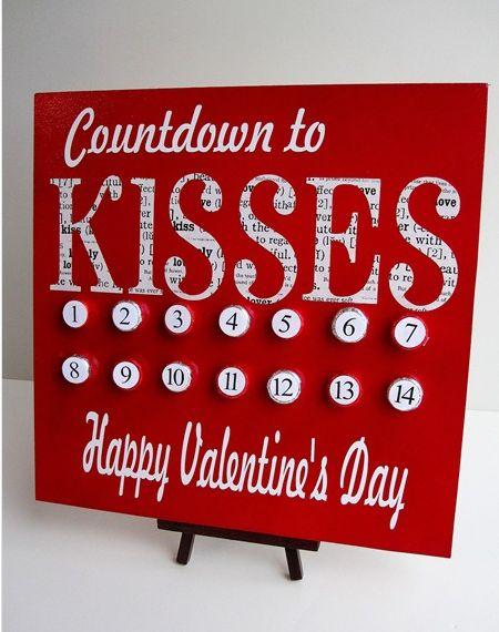 kisses advent calender: Countdown, Valentines Day, Hershey Kiss, Holidays, Valentine Ideas, Valentinesday, Valentine S, Crafts