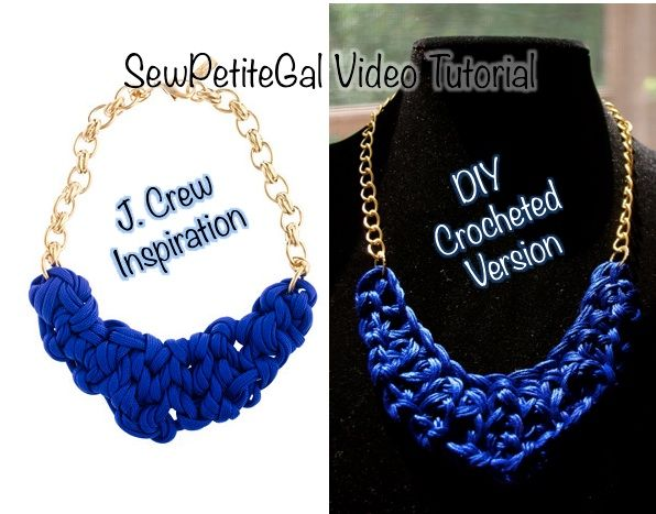 I like a good DIY challenge. So when Jen  asked if the J. Crew OGJM Hyacinth Necklace  was DIY-able, I gave it a shot.     J. Crew Inspirat...