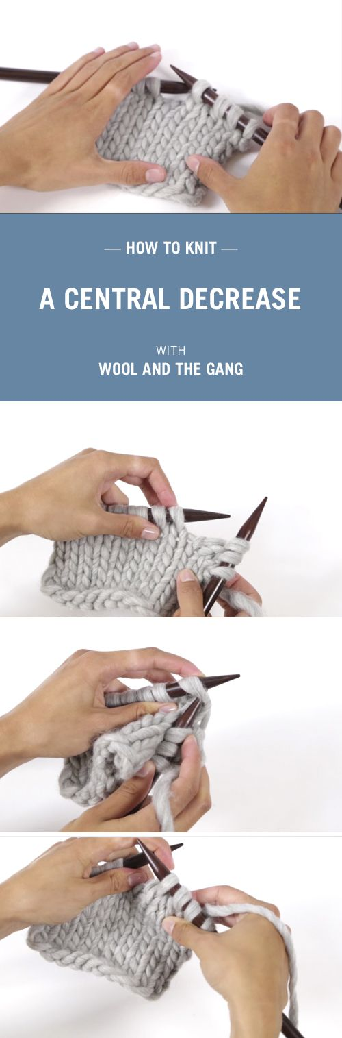 How to decrease in knitting with Wool and the Gang.