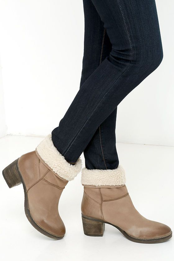 Report Signature Fireside Brown Suede Leather Fold-Over Boots at Lulus.com!