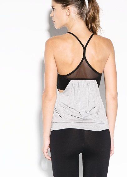 Fitness & Running - Birleşik sütyenli tişört