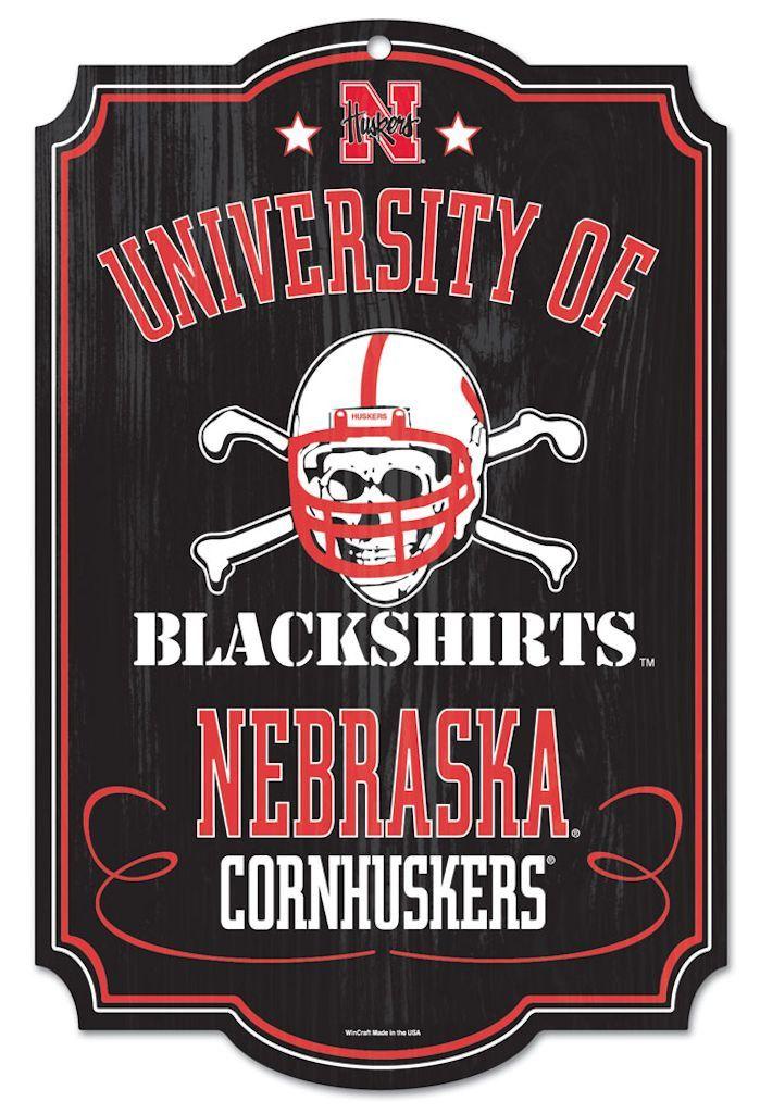 Nebraska Cornhuskers Wood Sign - Blackshirts (backorder)