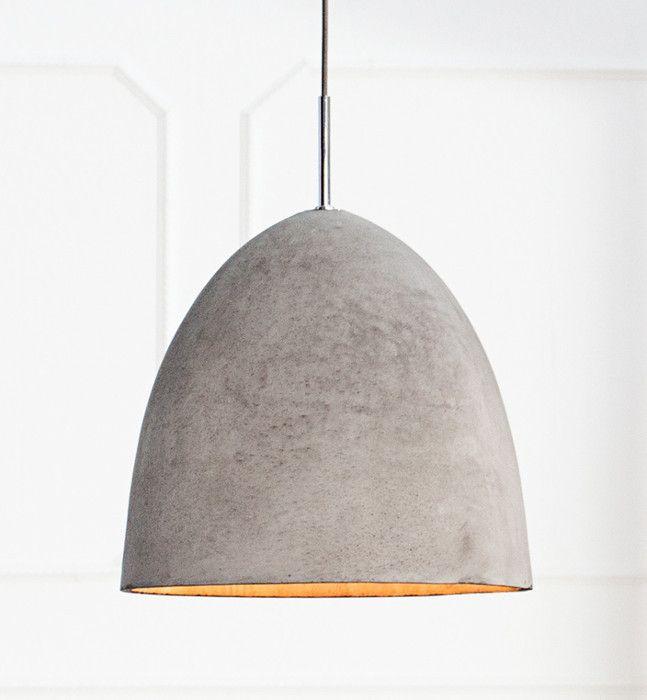 Design Hängelampe B TONG 40cm Beton Grau
