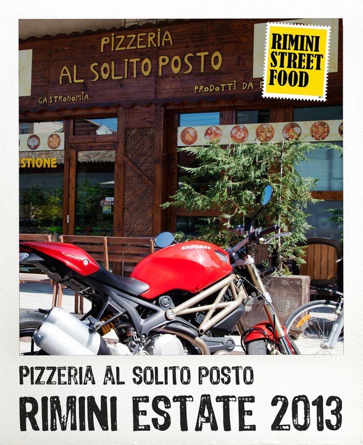 Pizzeria al Solito Posto #rimini #streetfood #food #ducati