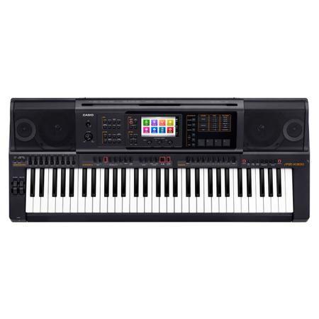 Casio MZ-X300  — 54990 руб. —  Полупрофессиональный синтезатор с автоаккомпанементом, встроенной звуковой системой и цветным сенсорным ЖК-экраном. 61 динамическая клавиша, 900 тембров (450 пользовательских), 280 стилей автоаккомпанемента (100 пользовательских), DSP: 65 базовых эффектов, параметрический эквалайзер, гармонизатор, арпеджиатор, 4 сенсорных пэда. Полифония – 128 голосов, возможность подключения внешней аудиосистемы и двух педалей, входы для нескольких источников. Запись…