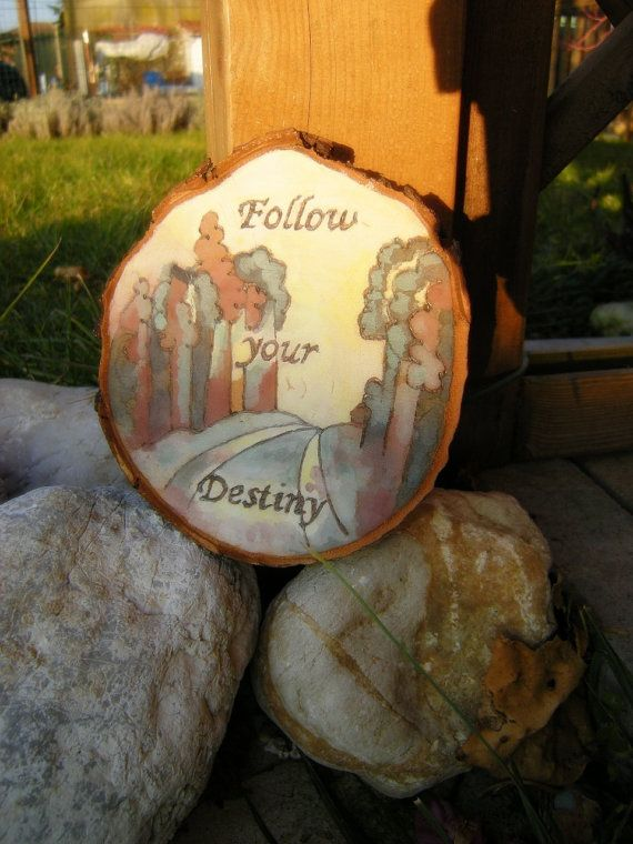 Painting on wood with message of encouragement di LaDolceAria