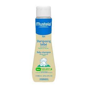 Mustela Shampoo bebé 200 ml. Shampoo muy suave para lavar a diario los cabellos finos y delicados de bebés y niños.