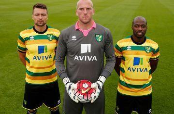 Norwich City FC 2015/16 Errea Third Kit