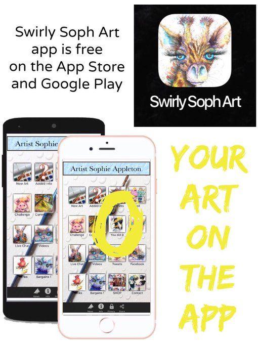 Twitter @CreativeMrsH is Artist Sophie Appleton , this is the artists interactive app.