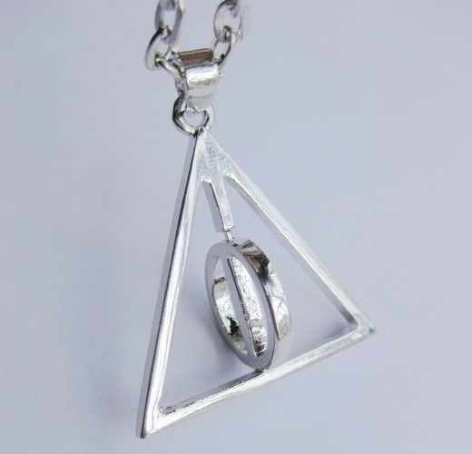 Harry Potter Rotating Deathly Hallows Pendant
