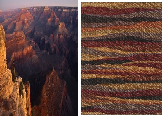 Colors of the Canyon in your living room : )  Henley by Shaw #rugs #arearugs #design #nature