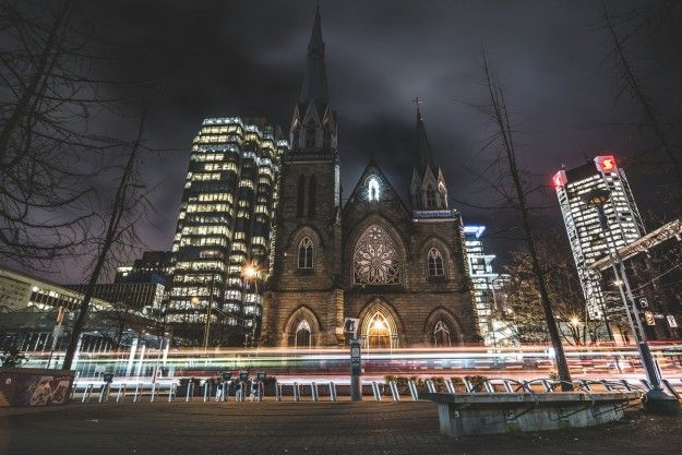 Photo of the Week: JayCWSee captured wonderful night photo of Holy Rosary Cathedral - a late 19th-century French Gothic revival church listed on the Vancouver Heritage Register.
