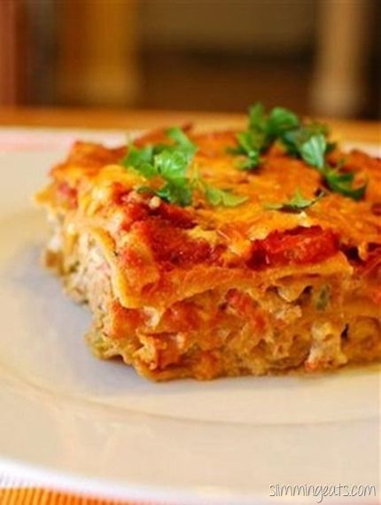 Slimming Eats Spicy Mexican Lasagne - Slimming World and Weight Watchers friendly