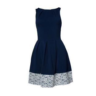 Closet Navy Lace Trim Dress