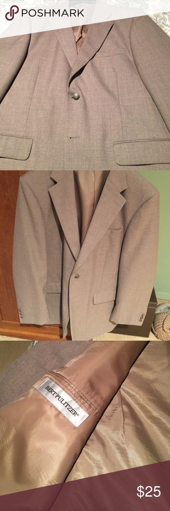 44L Men's Sports Jacket 44L Men's Brown Cotton Blend Sports Jacket • Fully Lined • Brass Buttons Bert Pulitzer Suits & Blazers Sport Coats & Blazers