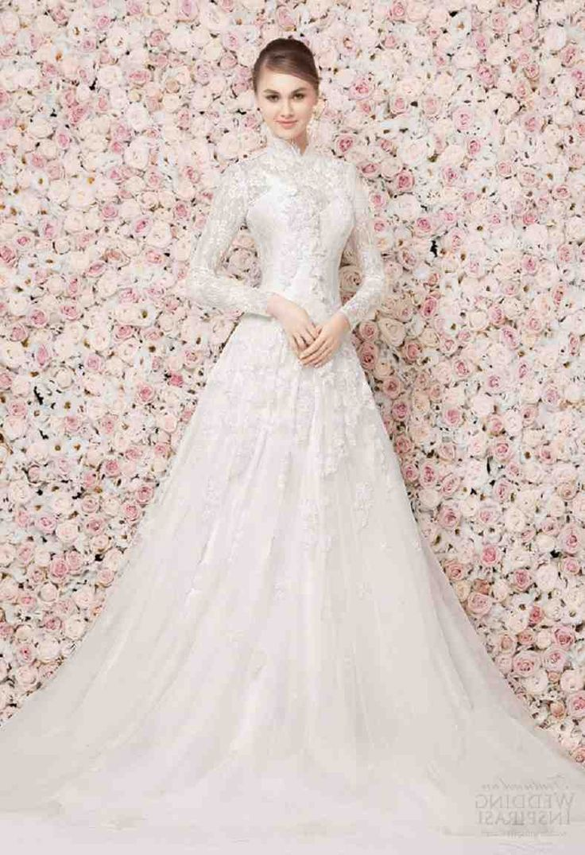 The 38 best high neck wedding dress images on Pinterest | Short ...