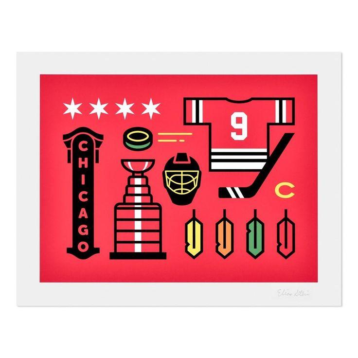 """Chicago Hockey 11"""" x 14"""" Print"""