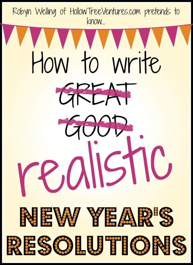 How to write realistic New Year\'s Resolutions | Humor and Hilarious