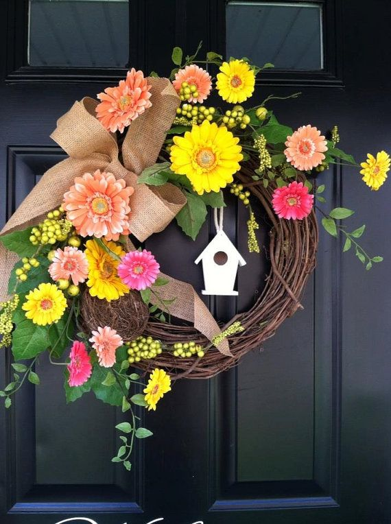 17 best images about diy wreaths door decor on for 3 wreath door decoration