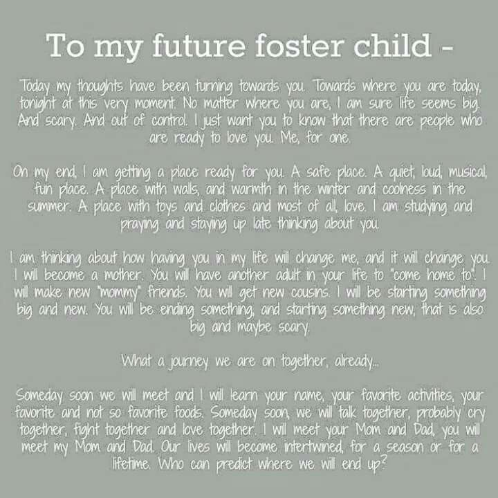 Foster Child Poem