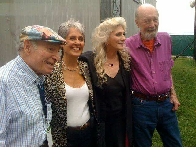 Joan Beaz, Judy Collins, and Pete Seeger