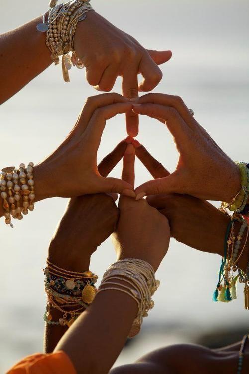 Symbole hippie chic mariage Peace and Love