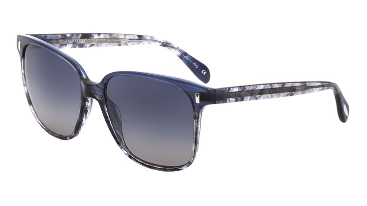 OLIVER PEOPLES EYEWEAR Marmont Sunglasses in Faded Sea/Pacific Gradient.