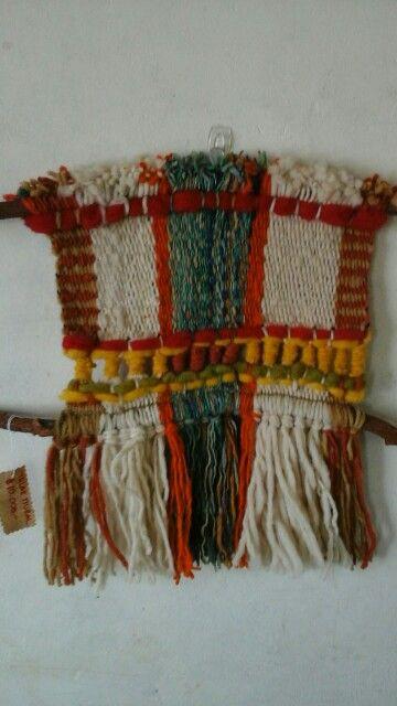 Telar mural en telar mapuche