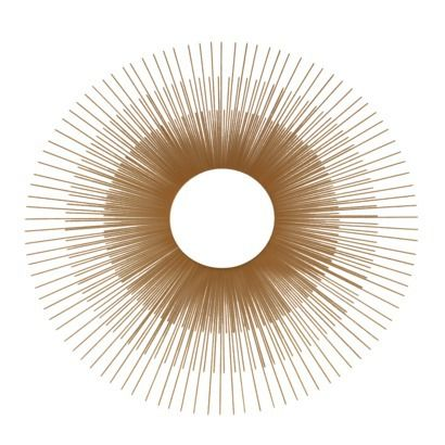 """Oversized Gold sunburst mirror 24"""" Just like a well-edited wardrobe, it's important to mix the high-end home pieces with the low. This gold sunburst mirror from Target is so stylish, no one will even know it's not super expensive."""