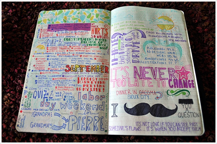 I love the teardrop doodles, the colours are perfect