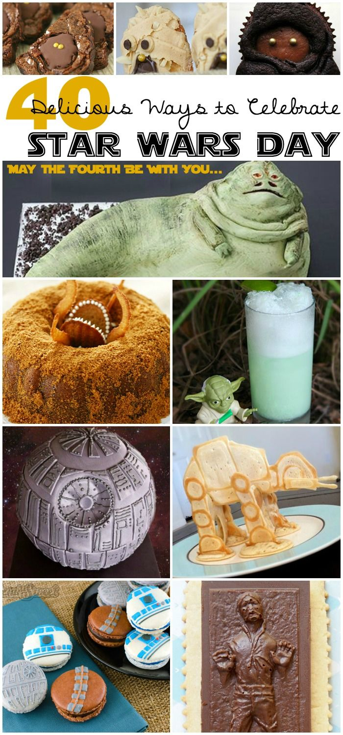 LOTS OF STAR WARS FOOD! Yes! Perfect for a Star Wars obsessed kiddo's birthday party.