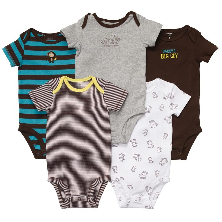 These short sleeve bodysuits are a must-have for the new baby boy in your life. Pairs perfectly with bottoms for tons of outfits.