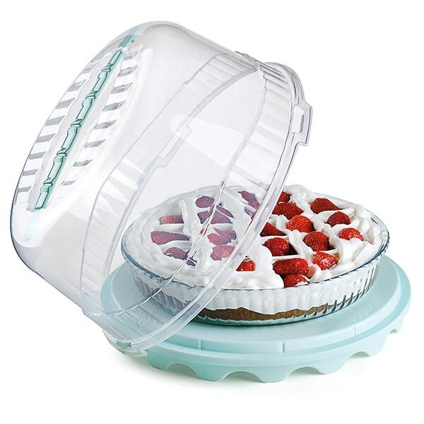 Yuvarlak Kek Saklama ve Taşıma Kabı / Round Cake Storage & Carrier Box