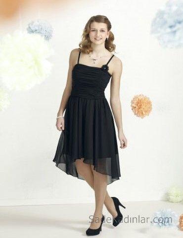 14 Yas Abiye Elbise Siyah Midi Ip Askili Klos Tul Etekli Elbise The Dress Moda Stilleri
