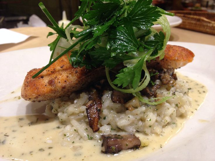 Roasted salmon & herbed mushroom risotto | Nordstrom ...