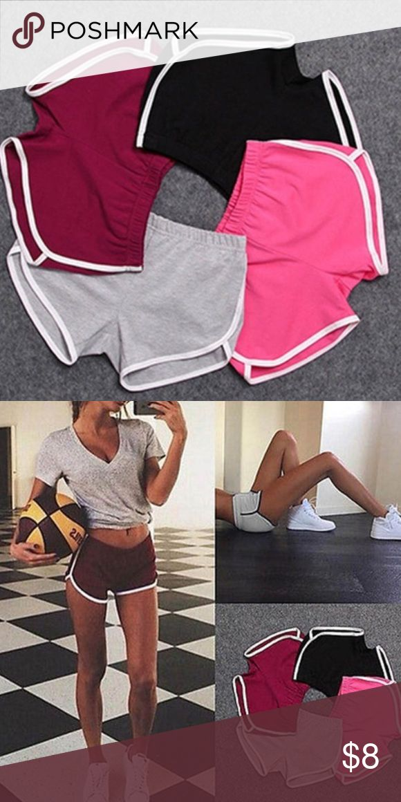 Women's shorts Beautifully comfortable fit!! Colors available in wine red,black,pink, & grey! Shorts